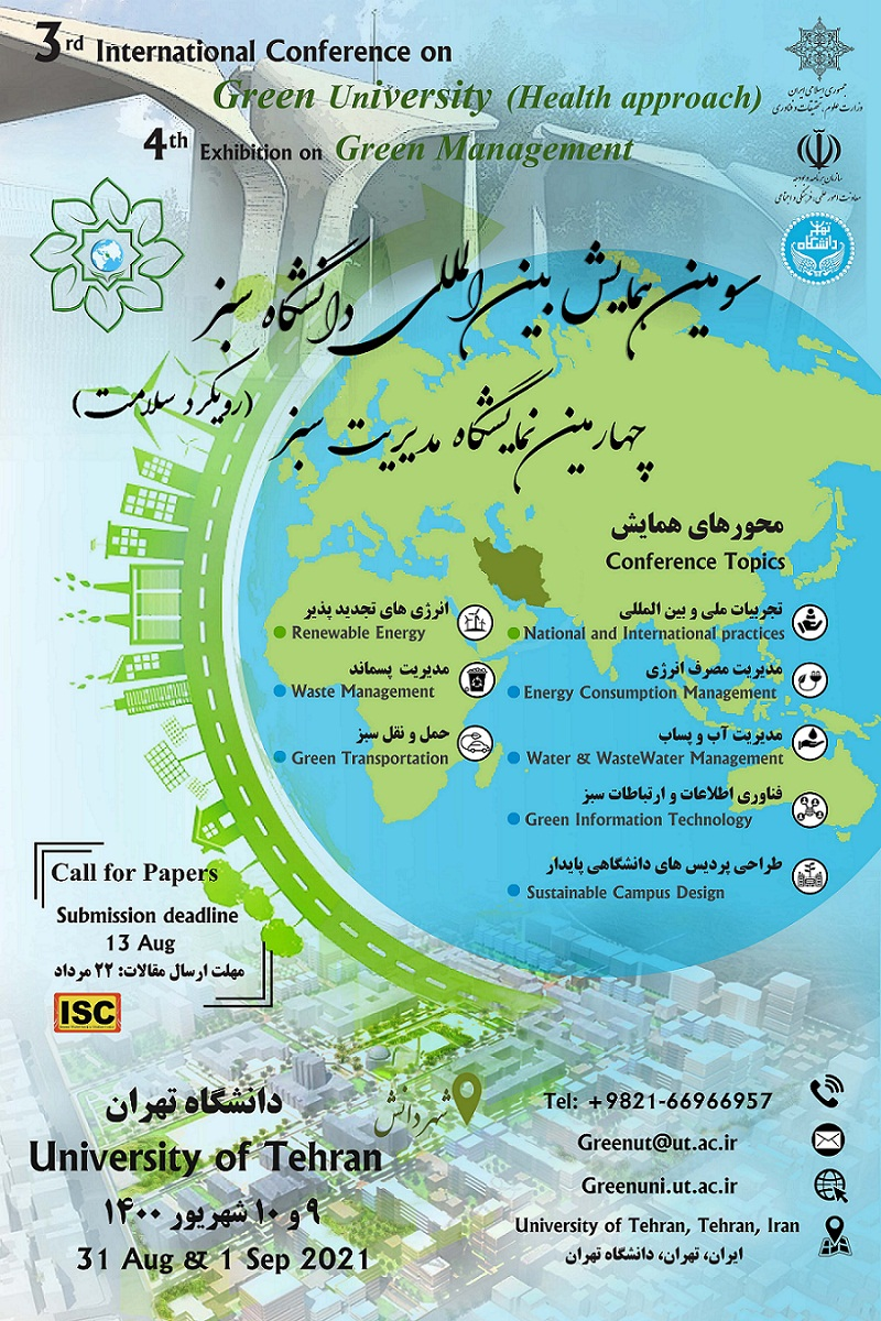 3rd International Conference on Green University (Health approach)